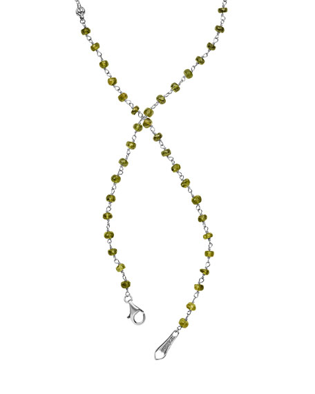 18k Caviar Forever Beaded Pearl Tassel Necklace, 36""