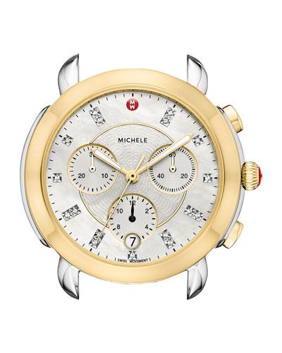 Sidney 18K Two-Tone Watch Head with Diamonds, Gold/White
