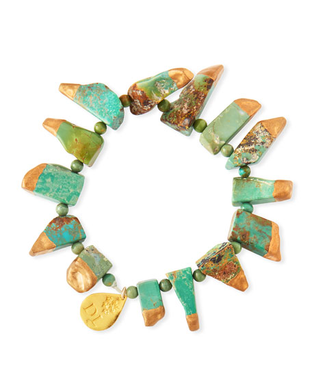 Devon Leigh Copper Infused Turquoise Stretch Bracelet