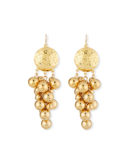 Devon Leigh Cluster Medallion Dangle Earrings