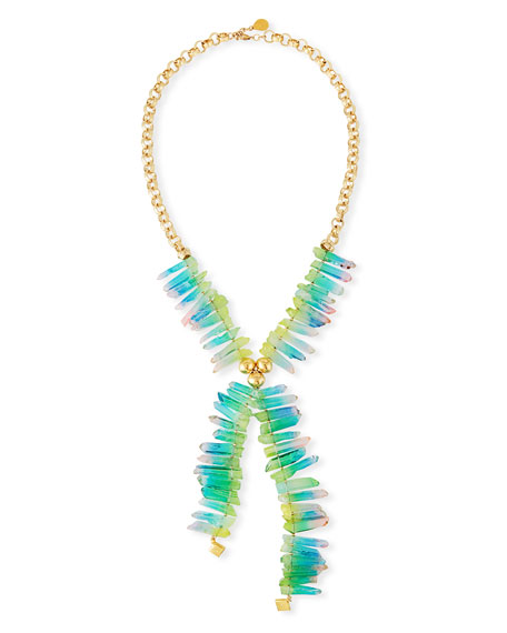 Devon Leigh Rainbow Spike Quartz Necklace