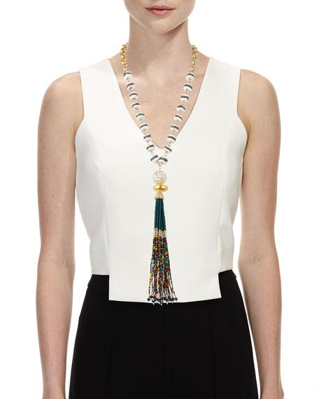 Devon Leigh Multicolor Tassel Pendant Necklace
