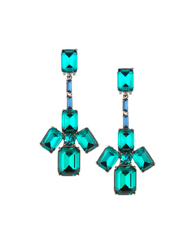 Baguette Swarovski Crystal Clip-On Earrings