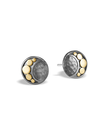 John Hardy Dot Crescent Moon Stud Earrings