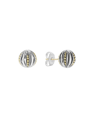 Signature Gifts Caviar Round Cage Stud Earrings