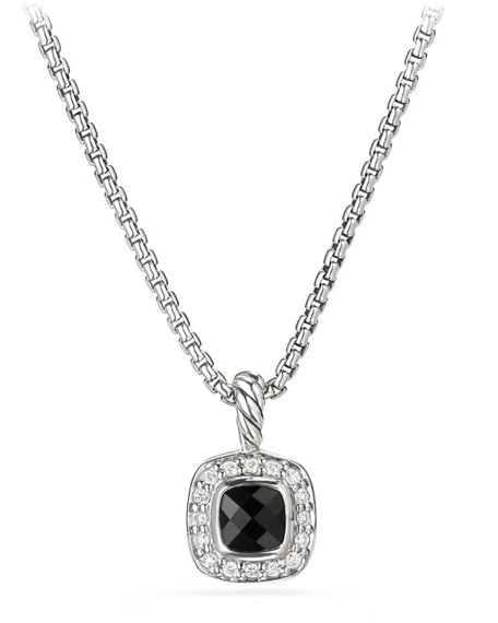 Kid's Albion® Cushion Pendant Necklace w/ Diamonds, 14""