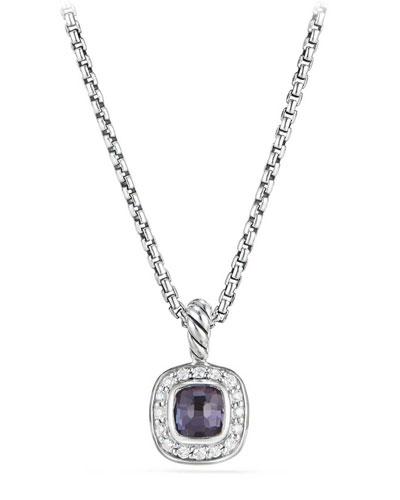Kid's Albion® Cushion Pendant Necklace w/ Diamonds, 14