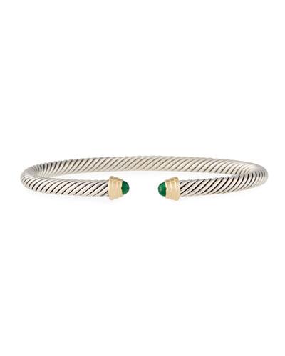 Kid's Birthstone Cable Bangle