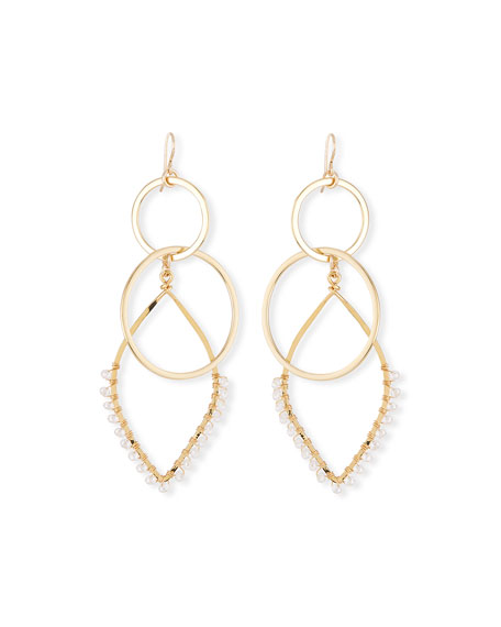 Devon Leigh Hammered Oval Fan Earrings JORgUB