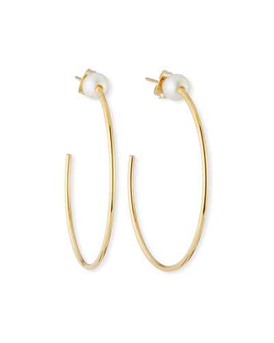 Sfera Pearl Hoop Earrings