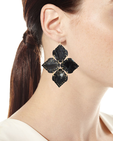 Ashley Pittman Angalia Dark Horn Drop Earrings