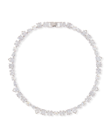 Jagged Edge Cubic Zirconia Necklace