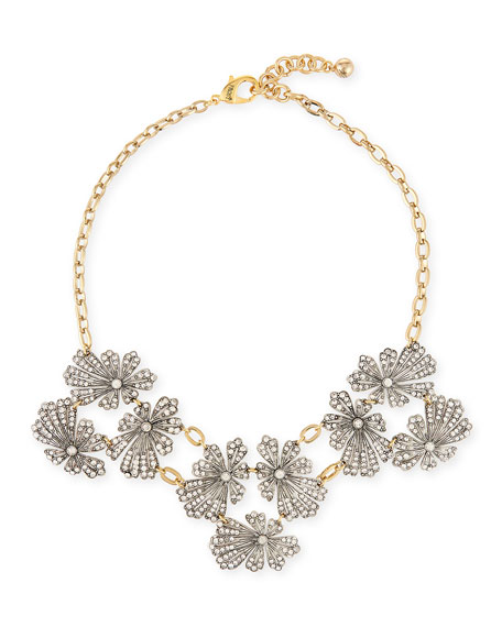 Lulu Frost Camellia Crystal Flower Necklace