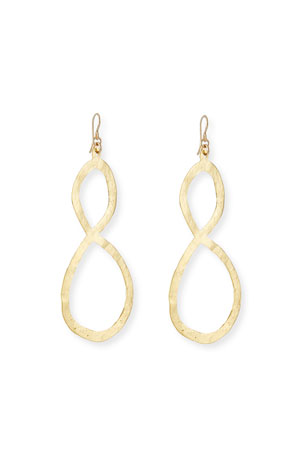 Devon Leigh Hammered Figure-Eight Drop Earrings