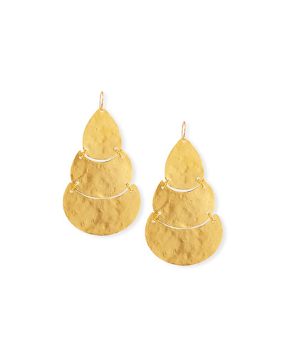 Triple Tier Teardrop Earrings