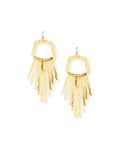 Large Fringe Drop Statement Earrings