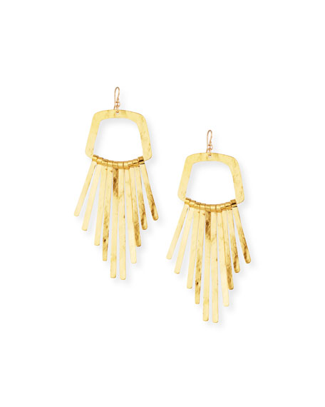 Devon Leigh Large Fringe Drop Statement Earrings