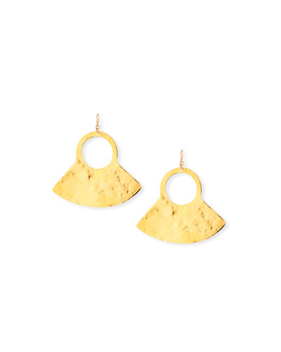 Hammered Wedge Drop Earrings