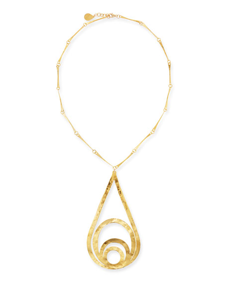 Multi-Loop Teardrop Pendant Necklace