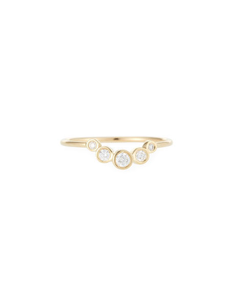 Zoe Chicco 14k Graduated Five-Diamond Ring