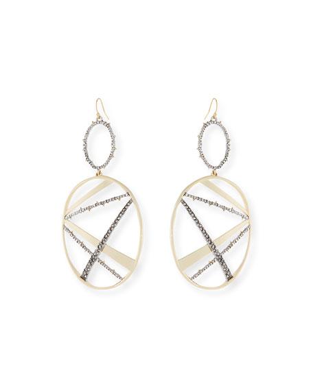 Alexis Bittar Crystal Encrusted Plaid Drop Earrings