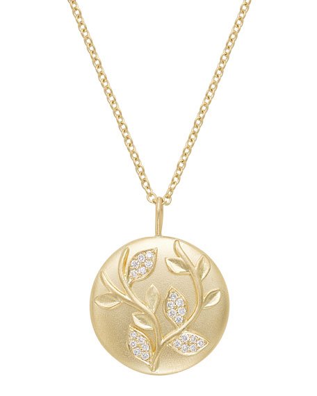 JAMIE WOLF 18K DIAMOND IVY VINE PENDANT NECKLACE