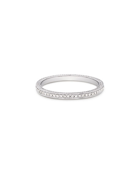 JAMIE WOLF 18K THIN DIAMOND PAVÉ BAND RING