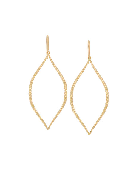 JAMIE WOLF 18K TWISTED MARQUISE DROP EARRINGS