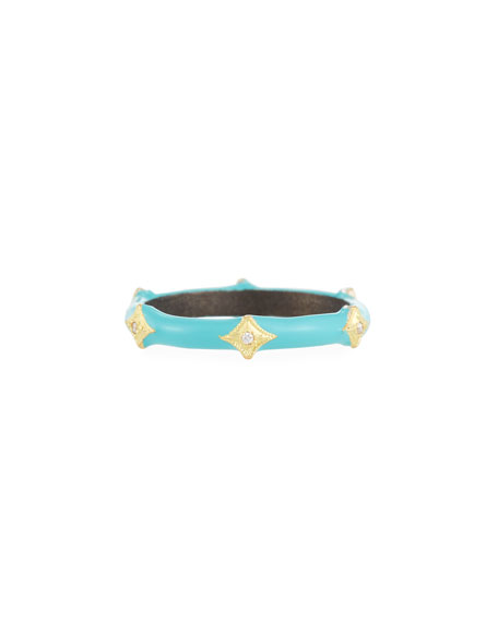 Old World Enamel Diamond Crivelli Stack Ring