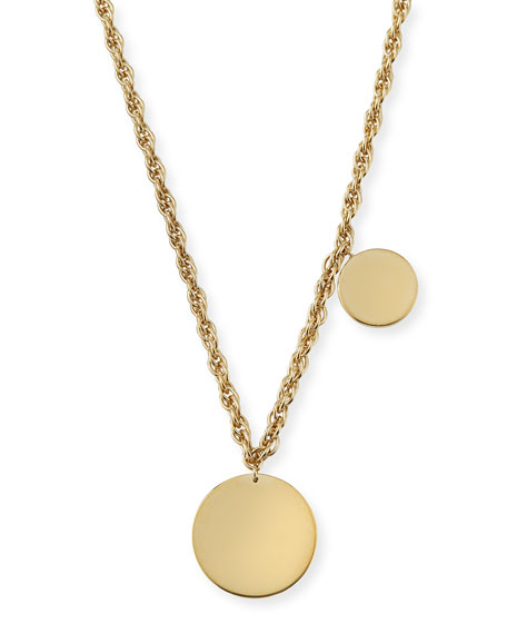 Jennifer Zeuner Lita Double Circle Pendant Necklace