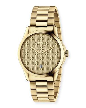 3f37349e054a Gucci G-Timeless Bracelet Watch, Yellow Golden