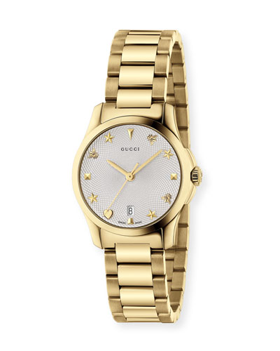 27mm G-Timeless Icon-Indices Watch w/ Bracelet Strap