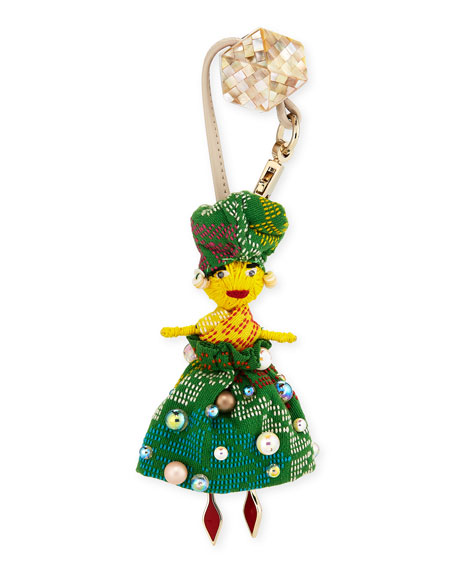 Christian Louboutin Manila Doll Charm for Handbag