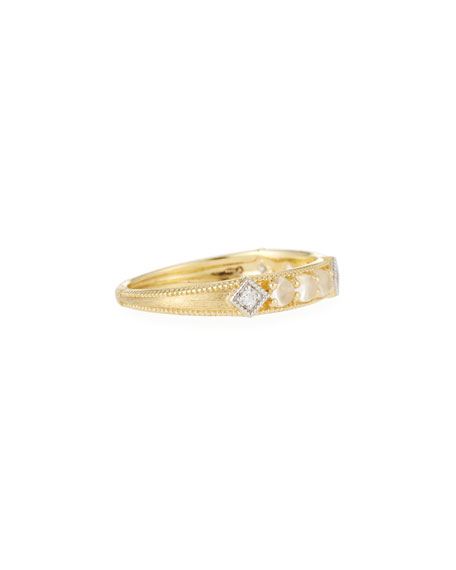 Jude Frances Lisse Moonstone & Diamond Band Ring in 18k Yellow Gold