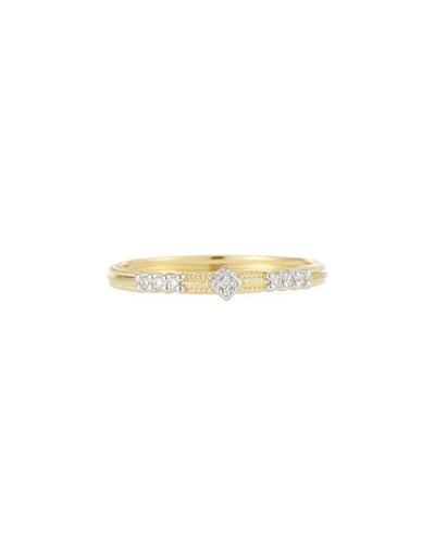 18k Lisse Triple Diamond Pavé Ring