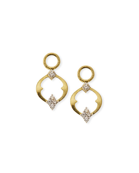 Jude Frances 18k Moroccan Open Diamond Quad Circle Earring Charms