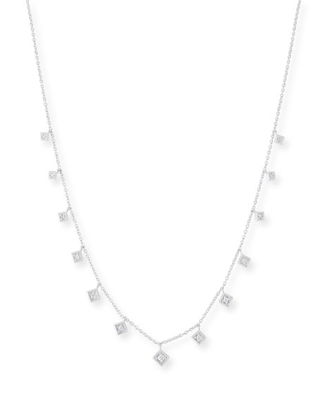Jude Frances 18k Lisse Dancing Diamond Necklace