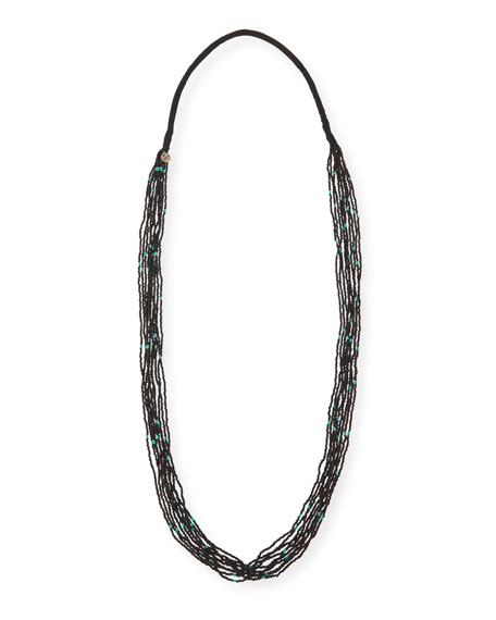 Multi-Strand Speckled Bead Necklace