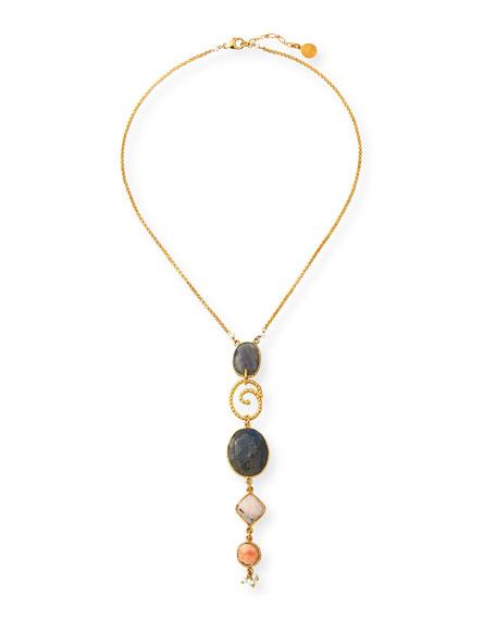 Gas Bijoux Poeme Y-Drop Pendant Necklace