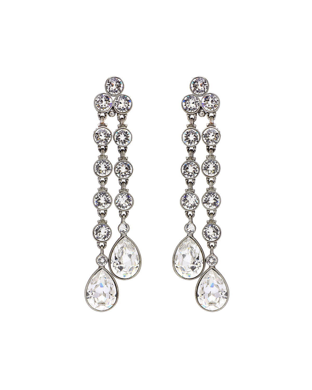 28c80da0f Ben-Amun Double Teardrop Crystal Dangle Clip Earrings | Neiman Marcus