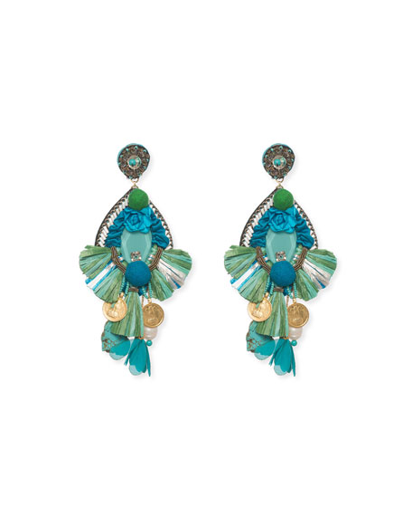 Bluejay Clip-On Statement Earrings