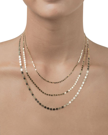 Lana Jewelry Nude 14K Yellow Gold Chain Choker Necklace