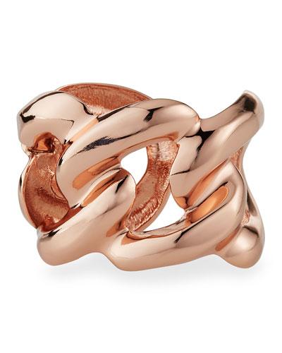 Rose Golden Link Cuff Bracelet