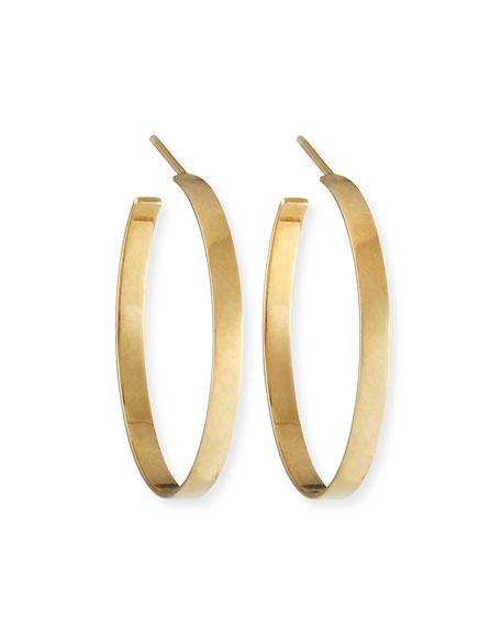 14k Flat Hoop Earrings