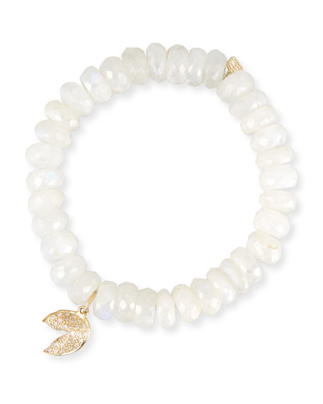 Sydney Evan Mystic Moonstone Bracelet w/ 14k Fortune