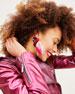 Flamingo Stud Earrings w/ Feathers