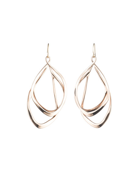 Alexis Bittar Orbit Wire Drop Earrings, Rose-Tone
