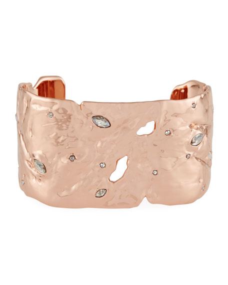 Alexis Bittar Textured Crystal Cuff Bracelet