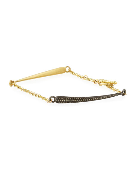 Armenta 18k Old World Diamond Dagger Chain Bracelet