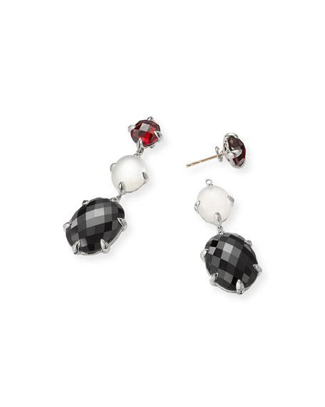 David Yurman Chatelaine Triple Drop Earrings, Onyx